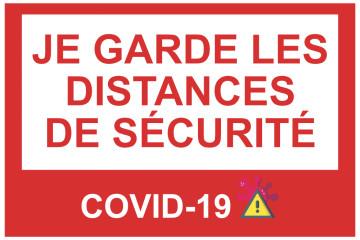 Autocollant Distance de Sécurité COVID-19 2