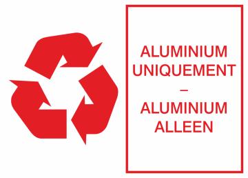 Autocollant Environnement Aluminium