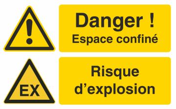 Autocollant Espace Confiné / Risque d'explosion