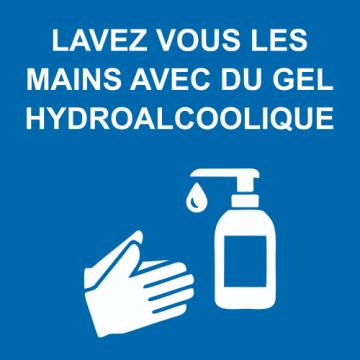 Autocollant Lavez vous les mains COVID19