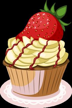 Autocollant Cup Cake 1