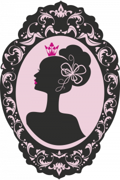 Autocollant Fashion Femme Couronne