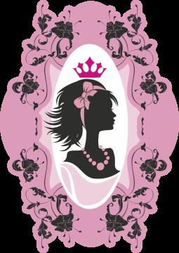 Autocollant Fashion Femme Couronne 6