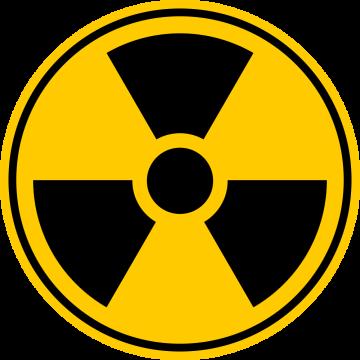 Autocollant Panneau Radiation