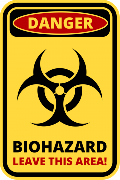 Autocollant Panneau Danger Biologique