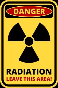 Autocollant Panneau Danger Radiation