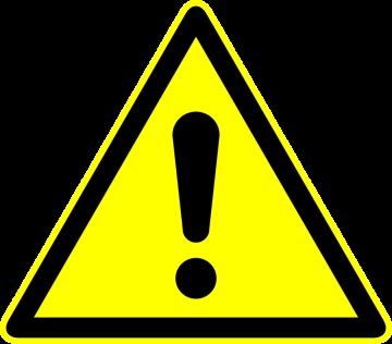 Autocollant Panneau Danger