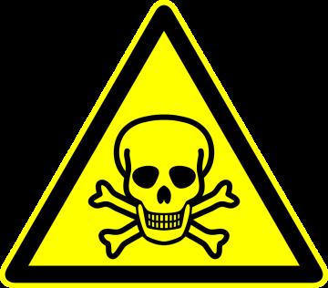 Autocollant Panneau Danger Mort