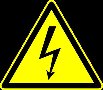 Autocollant Panneau Danger Electrocution