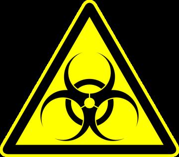 Autocollant Panneau Danger Biologique 1