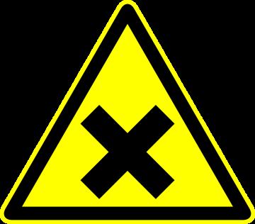 Autocollant Panneau Danger Toxique