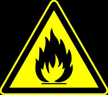 Autocollant Panneau Danger Inflammable