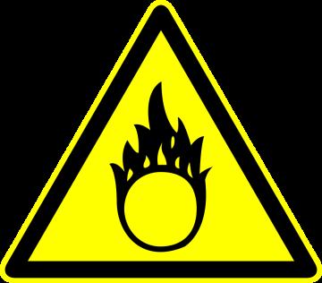 Autocollant Panneau Danger Chimique