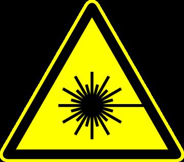 Autocollant Panneau Danger Laser