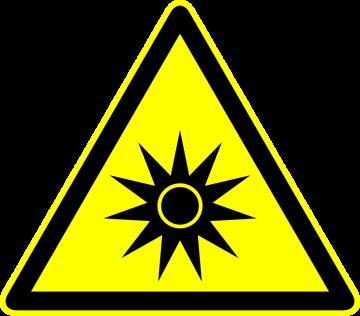 Autocollant Panneau Danger Rayonnement Optique