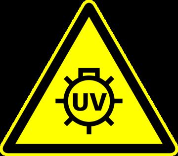 Autocollant Panneau Danger Uv