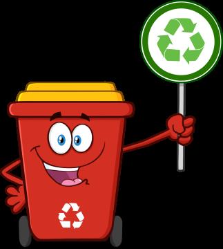 Autocollant Poubelle Respect Environnement Et Recyclage Stop