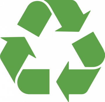 Autocollant Logo Recyclage