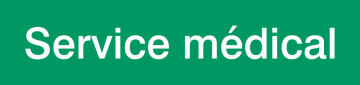 Autocollant Signalisation Service Médical
