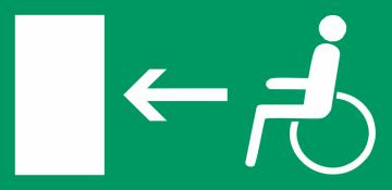 Autocollant Signalisation Sortie Secours Handicapé