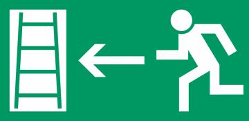 Autocollant Signalisation Sortie Secours Echelle 1