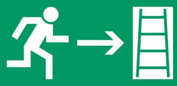 Autocollant Signalisation Sortie Secours Echelle 2