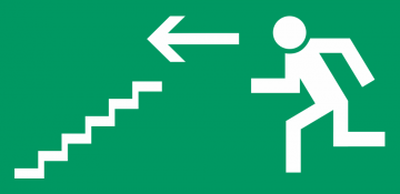 Autocollant Signalisation Sortie Secours Escalier 1