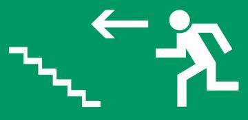 Autocollant Signalisation Sortie Secours Escalier 2