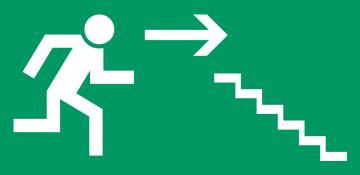 Autocollant Signalisation Sortie Secours Escalier 4