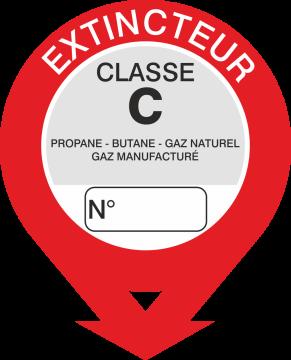 Autocollant Signalisation Extincteur Classe C