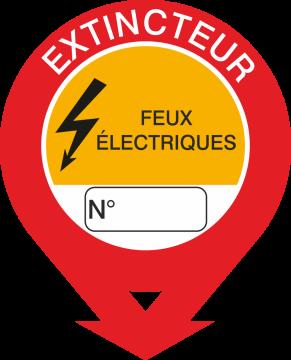 Autocollant Signalisation Extincteur Feux Electrique