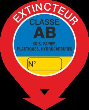 Autocollant Signalisation Extincteur Classe Ab