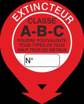 Autocollant Signalisation Extincteur Classe A-b-c