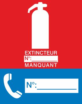 Autocollant Signalisation Extincteur N°