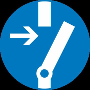 Autocollant Obligation Mettre En Marche Avt De Commencer
