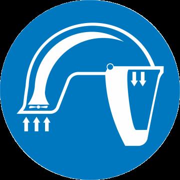 Autocollant Obligation Port Casque Racal