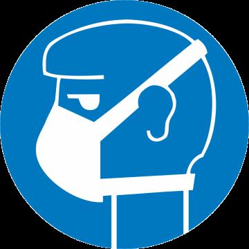 Autocollant Obligation Protéger Voies Respiratoires