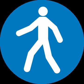 Autocollant Obligation Passage Piéton
