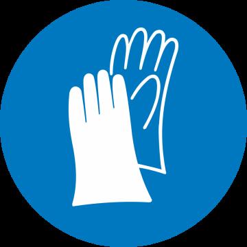 Autocollant Obligation Protection Mains