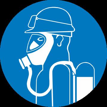 Autocollant Obligation Protection Voie Respiratoire