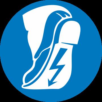 Autocollant Obligation Port Chaussures Conductrices