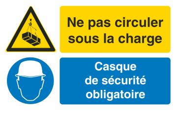 Autocollant Obligation Ne Pas Circuler Sous Charge Port Casque
