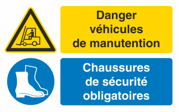 Autocollant Obligation Danger Manutention Port Chaussure Securité
