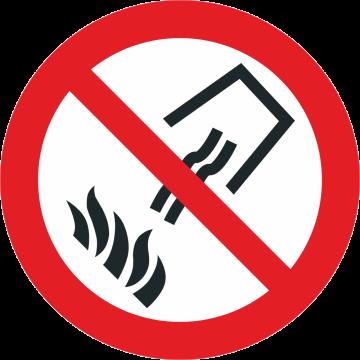 Autocollant Interdiction D'éteindre Avec De L'eau