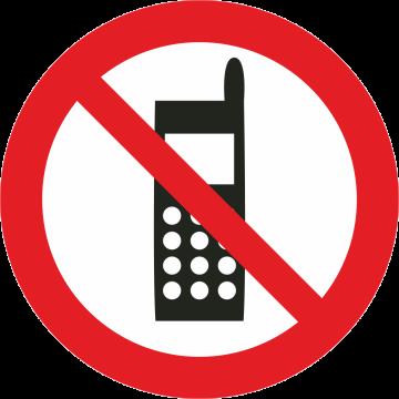 Autocollant Interdiction Aux Portables