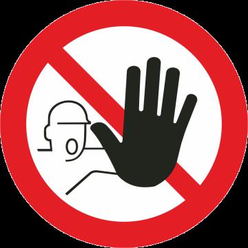 Autocollant Interdit D'accès Aux Personnes Non Autorisées
