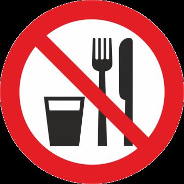 Autocollant Défense De Manger Et De Boire