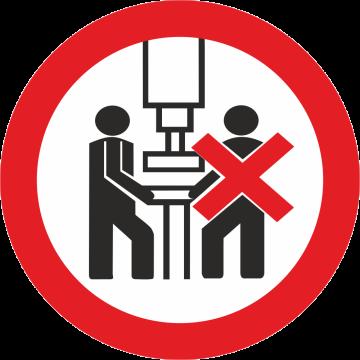 Autocollant Interdiction D'être Plus D'1 Sur Une Machine