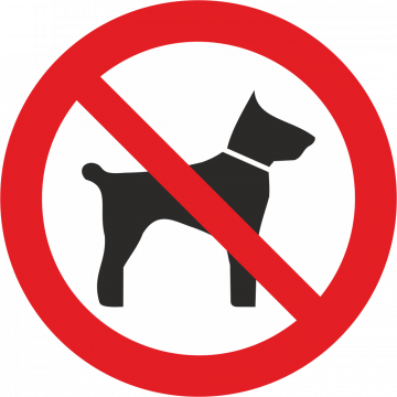Autocollant Interdiction Aux Animaux