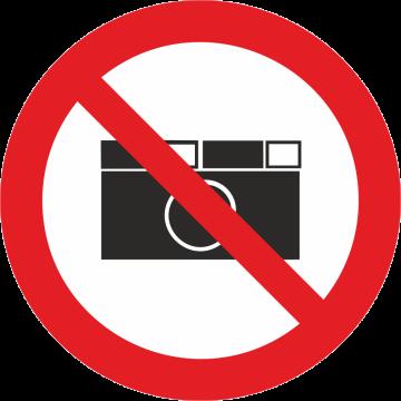 Autocollant Défense De Photographier
